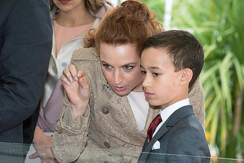 принц Марокко с мамой Lalla-Salma