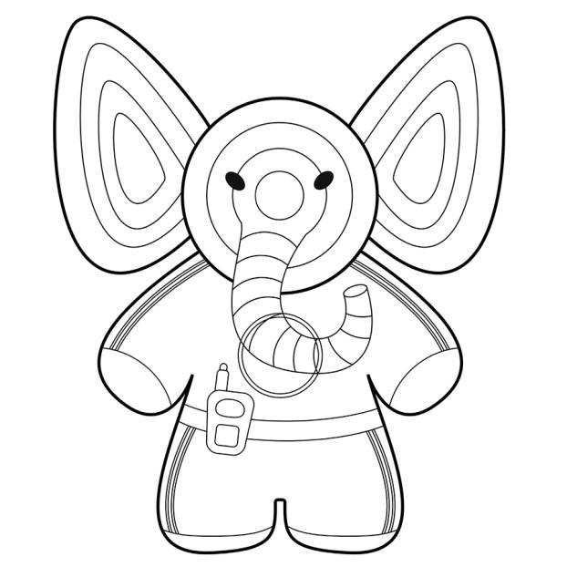 Раскраска_слон