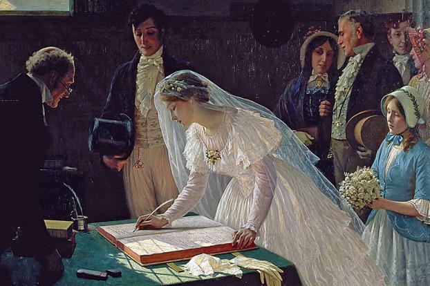 Регистрация брака Эдмунд Блэр Лейтон