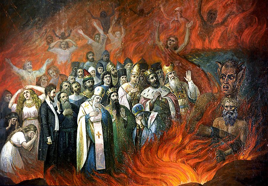 Лев Толстой в аду икона